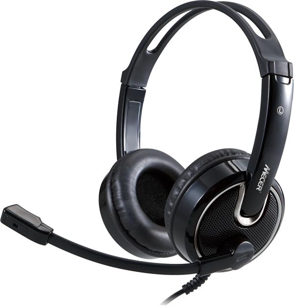 Mecer USB Type C Stereo Headphone & Microphone W/Volume Control