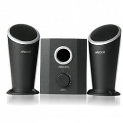 2.1 Channel Amplified Speaker (20W Subwoofer + 2 x 10W Channel) W/USB MP3 Player & Remote Control - Black